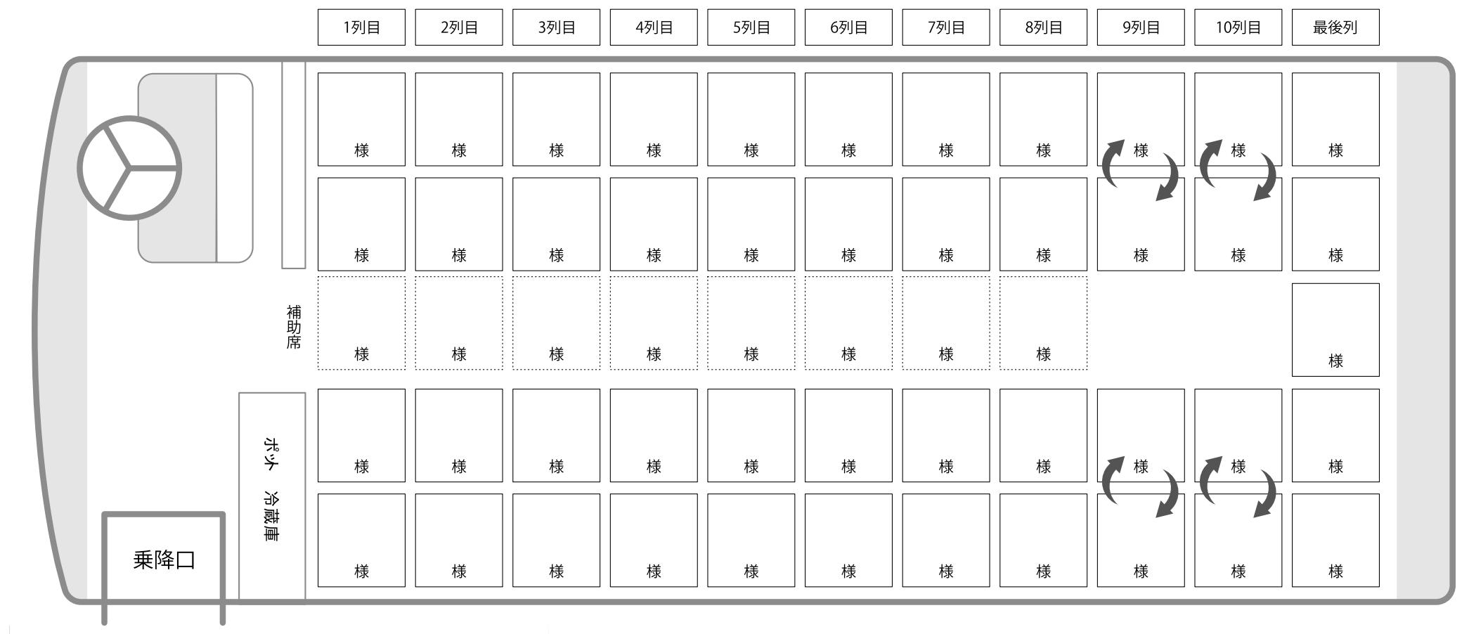 アリーナエクセルクルーズ座席表
